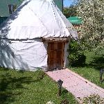 "The ""yurt"" for guests... I didn't ask to go inside."