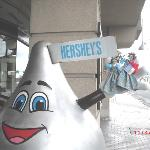 "Our ""Travelling Dolls"" meet the Hershey mascot!"