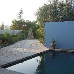 Back yard with plunge pool