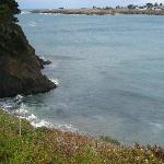  View of Pacific Ocean and Mendocino Bay from deck area