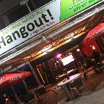 Outdoor Area of the Hangout with Big Screens and Streaming Movies from Netflix, Hulu and Amazon