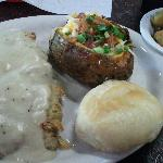  Chicken Fried Steak-tough, greasy and too much breading.
