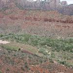  View of South Campground from Overlook on The Watchman Trail