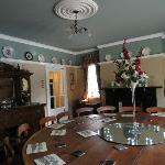 Dining room - round table seats 18