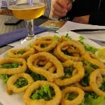 Delicious buttered calamari (squid rings)