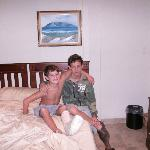  My two sons - Jean and Kyle in the room