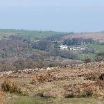 View of farm from Hound Tor