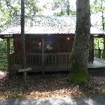 Front of the Newfound Gap cabin
