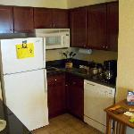 Nice small kitchen in the room