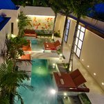 Courtyard features a fabulous swimming pool in secluded courtyard