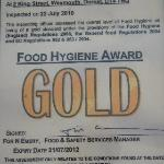 Gold Hygiene Award