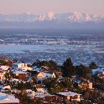 Early winter morning view of Christchurch from Cashmere Hills