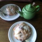 scones and tea pot
