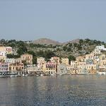 Symi waterfront.  Aliki is in the center.