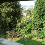  view form our room onto the garden