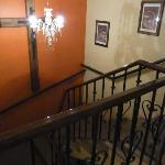 hallway, stairs to the patio