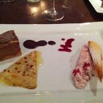  trio of desserts