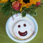 Smiley Face Linzer Torte