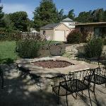 The back area and fire pit