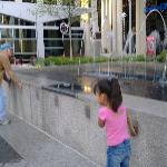  &quot;Children&quot; playing with interactive fountain