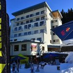  view on hotel from the ski slope