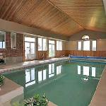  Solar heated indoor pool