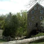 Gristmill with working water wheel