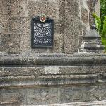 Plaque at the Malate Church