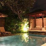 the private pool at night