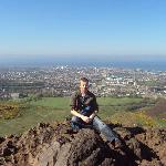 view from top of Arthurs Seat. 20 mins walk from B&B