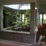 charming internal patio/hall