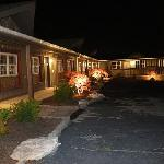 Shady Lawn Lodge Parking Lot Night View