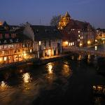 Romantic view of Strasbourg at night