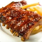 Babyback Ribs and Steak Fries