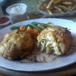 MASSIVE crab cakes - no filler, just crab chunks!