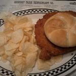 Pork tenderloin sandwich & chips