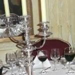  candelabro en mesa de la cena