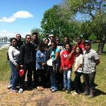 College Tour on the waterfront of Hampton University