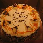 Orange Cream birthday cake