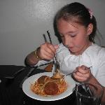  Chloe with Yummy meatballs