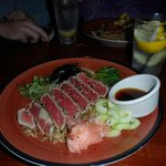 Ahi Tuna over fried rice!