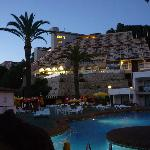 hotel in evening