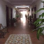 Main corridor to rooms