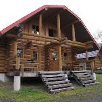 Main log cabin: 2 separate rooms with bathroom and upstairs bedroom, sleeping up to 4 people eac