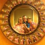 We loved the mirrors that are in the elevator lobbies on the floors!