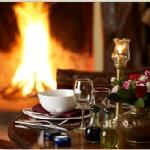 Cozy up to the fire and enjoy selections from our fusion menu!