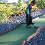 Scott playing the hardest hole...