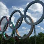 olympic rings outside