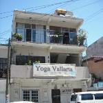 Street view of Yoga Vallarta, find the office on the 2nd floor & yoga room on the top floor.