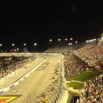 Night view of Nascar action from Pearson stands Row 28